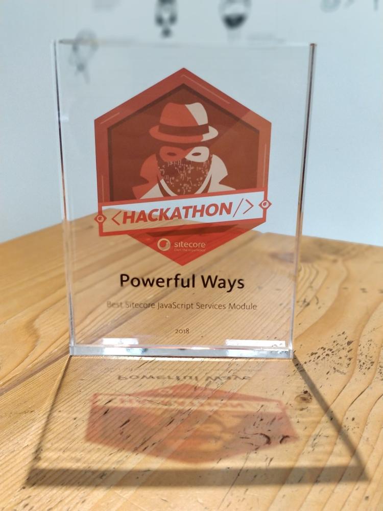 Sitecore Hackathon 2018 JSS Category Award